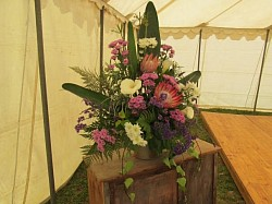A Flower Arrangement in the Marquee