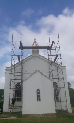 Scaffolding Needed to Replace the Steeple