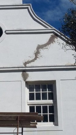 Severe Cracking of the North Gable